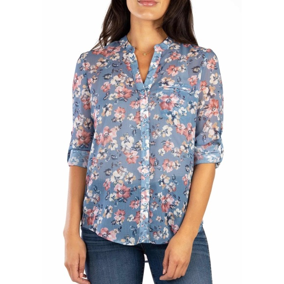 KUT from the Kloth Jasmine Floral Blouse Top